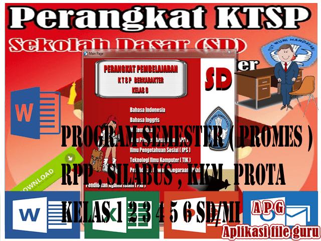 RPP Silabus PROTA Promes KKM SK dan KD Kelas 6 SD Mapel IPA Format Words