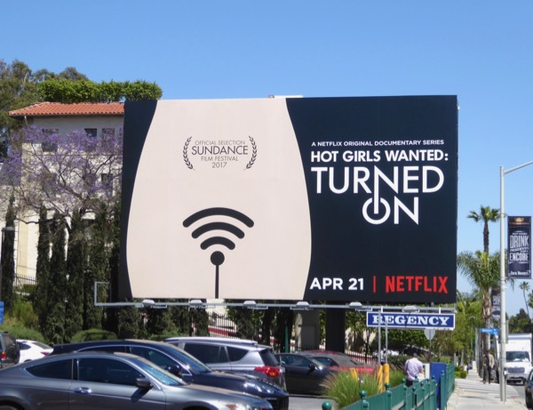 Hot Girls Wanted Turned On series billboard