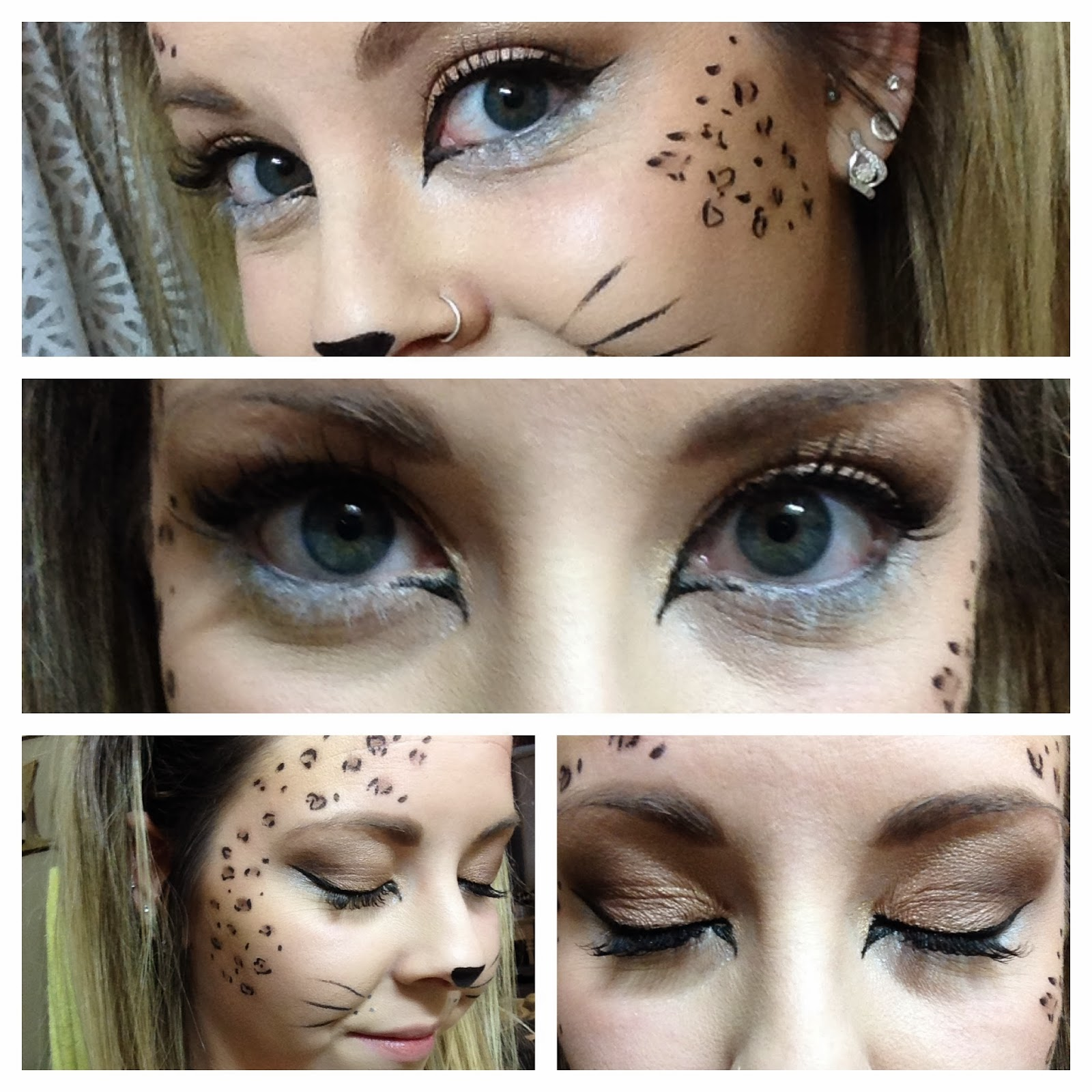 ashley sue makeup halloween cheetah makeup