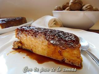 PUDIN DE PAN, NUECES Y QUESO (Microondas)