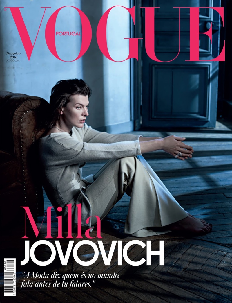 Milla Jovovich covers VOGUE Portugal - December 2016, by Ana Campos.