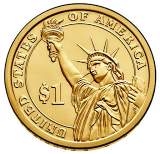 US One Dollar Coin, Lady Liberty - Statue of Liberty
