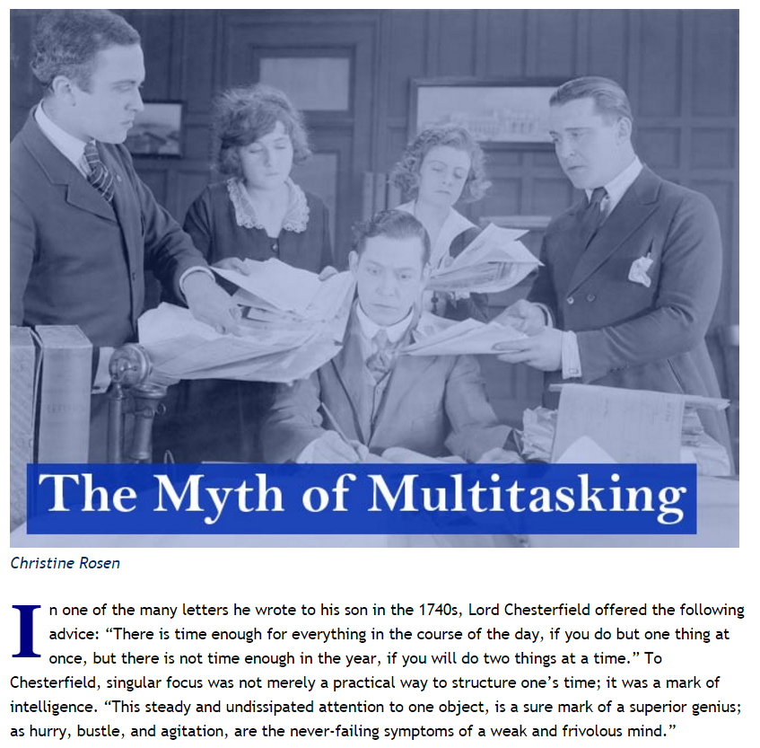 an overview of media multitasking Multitasking employees are the ones who can handle multiple responsibilities easily lets understand the need and importance of multitalented employees with the help of an example.