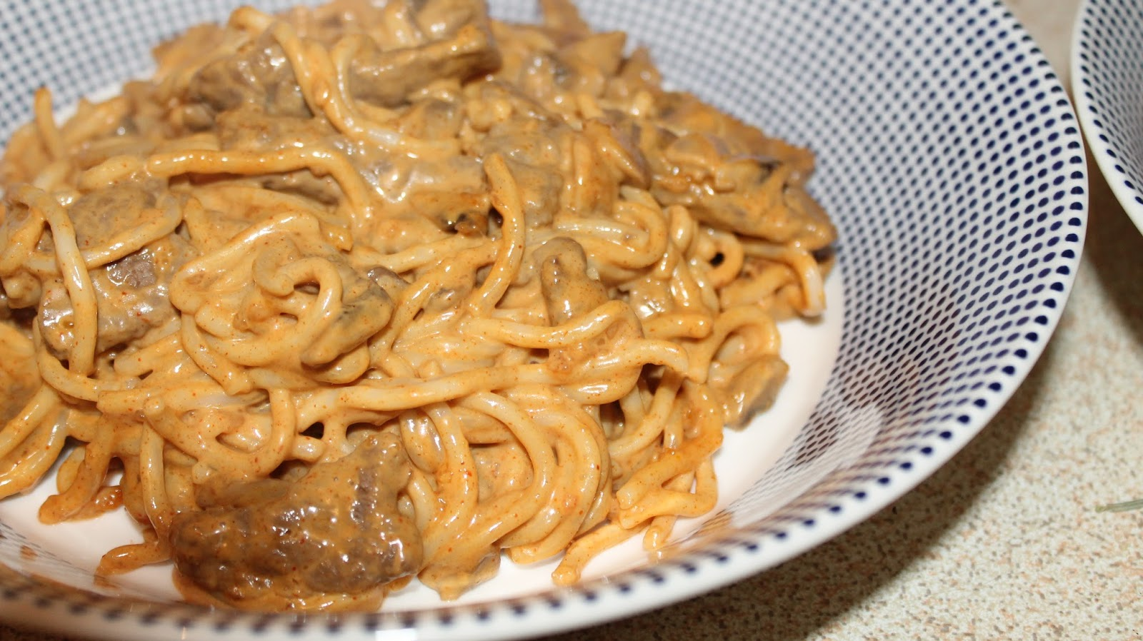 quick and easy beef stroganoff with noodles by blogger topaz & may