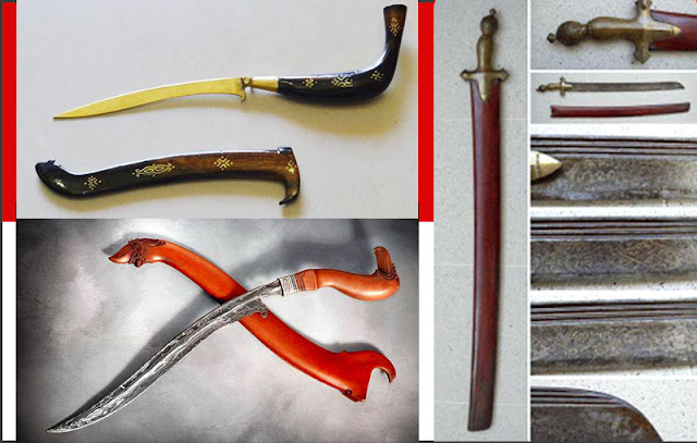 Gambar 3 macam senjata adat Provinsi Aceh