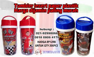 Tumbler  promosi / tumbler  stainless steel  / tumbler plastic / botol minum / insert paper