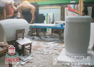 proses pembuatan bedug styrofoam