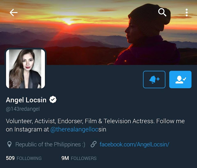 : QUEEN OF TWITTER: Angel Locsin Upholds Her Title in Social Media For Having 9.16 Million Followers!