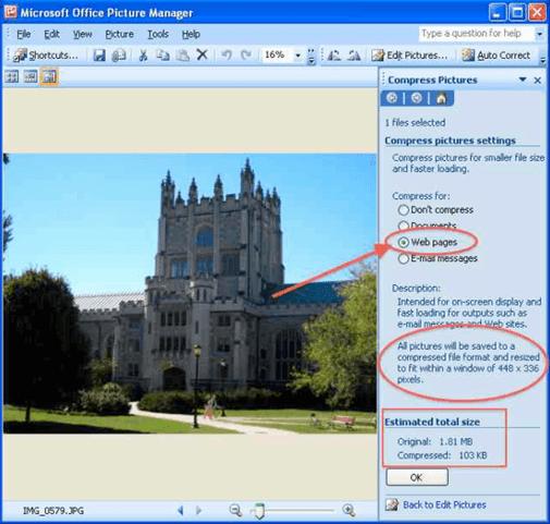 Memperkecil ukuran foto offline menggunakan aplikasi Microsoft Office Picture Manager