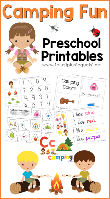 Camping Worksheets For Preschoolers : Free camping printables every star is different