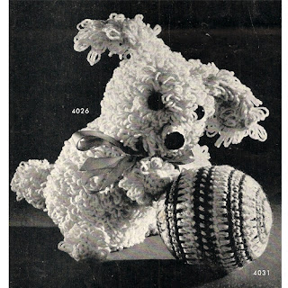 Crocheted Dog Ball Pattern, Vintage 1950s
