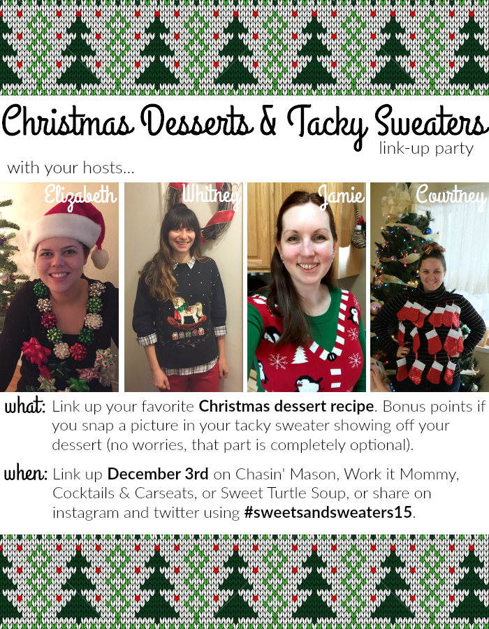 Christmas Desserts & Tacky Sweaters Link-Up Announcement!