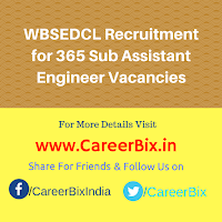 WBSEDCL Recruitment for 365 Sub Assistant Engineer Vacancies