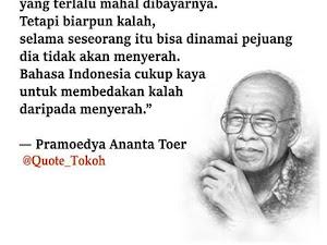 Hari Lahirnya Pelopor Sastra Indonesia, Pramoedya Ananta Toer