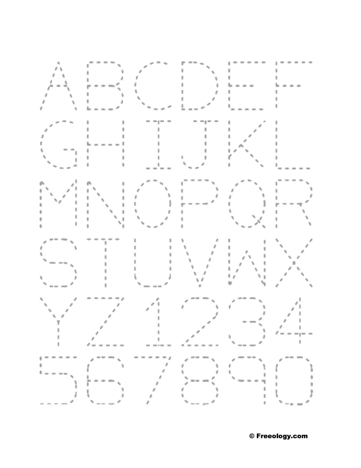 Large Traceable Letters For Projects
