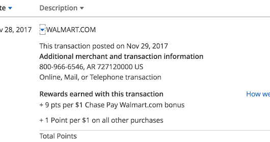 7000+ Chase points from the Chase Pay Walmart.com promo