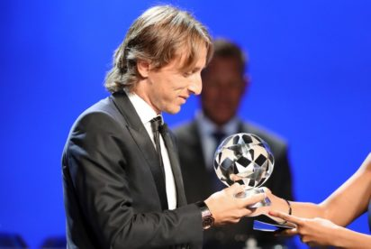 Luka modric beat Ronaldo and Messi to be crowned the Fifa's best player