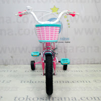 Sepeda Anak Wimcycle Barbie Rock 12 Inci Lisensi