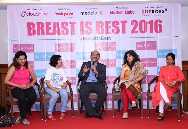 "BabyChakra launches ""MomLine"" and Creates Largest Offline Support Event for Expecting and Breastfeeding mothers #Breast is Best 2016"
