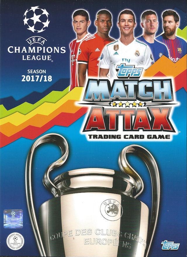 Match Attax Champions League 2017//18 complet 18 carte team set FC Barcelone