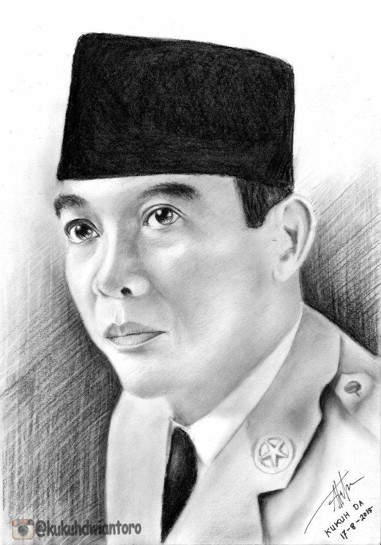 Sketsa Mewarnai Gambar Pahlawan Nasional Gambar Gambar