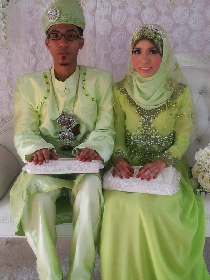 16 Contoh Model Baju Pengantin Muslim Warna Hijau Kumpulan Model