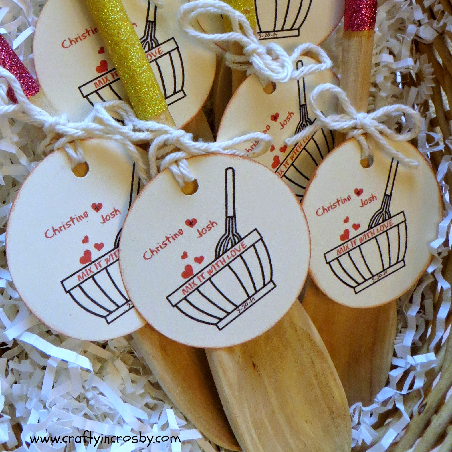 Wedding Favors: Crafty In Crosby: Bridal Shower Favors