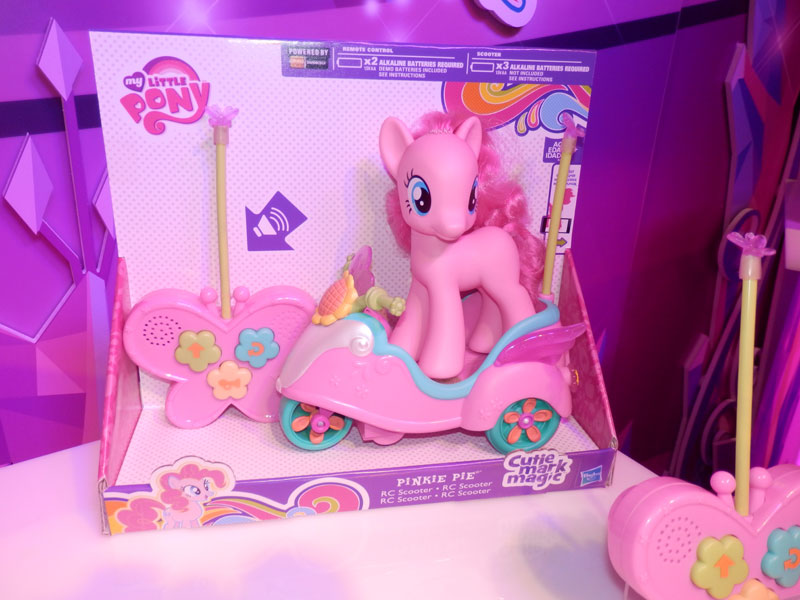 Pinkie Pie Brushable with RC Scooter at NY Toy Fair 2015