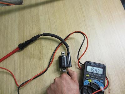 Yamaha YZF R125 testing ignition coil