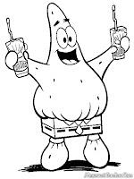 Patrick Memakai Celana Kotak Spongebob Squarepants