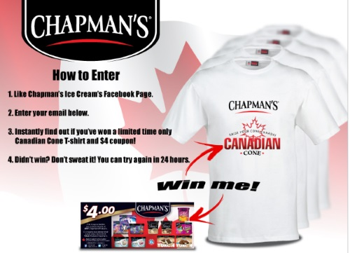 Chapman's Canada Day Instant in Contest