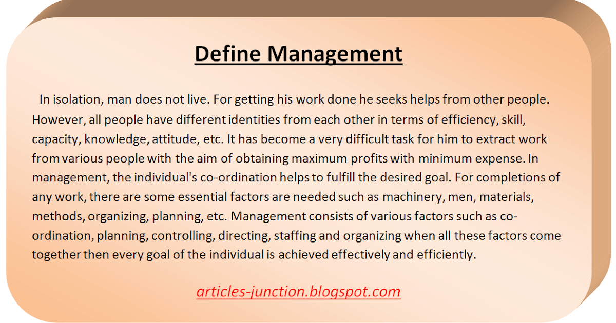define management Principles of management management control can be defined as a systematic effort by business management to compare performance to predetermined standards.