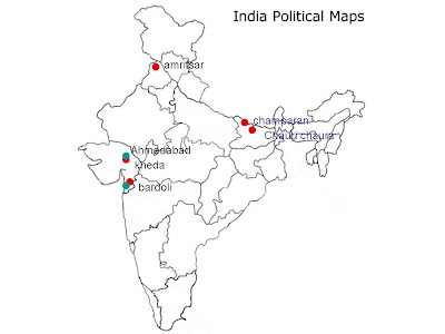 locate chauri chaura on indian map Social Science