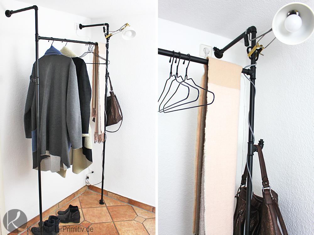 Kreativ Oder Primitiv Garderobe Aus Wasserrohren
