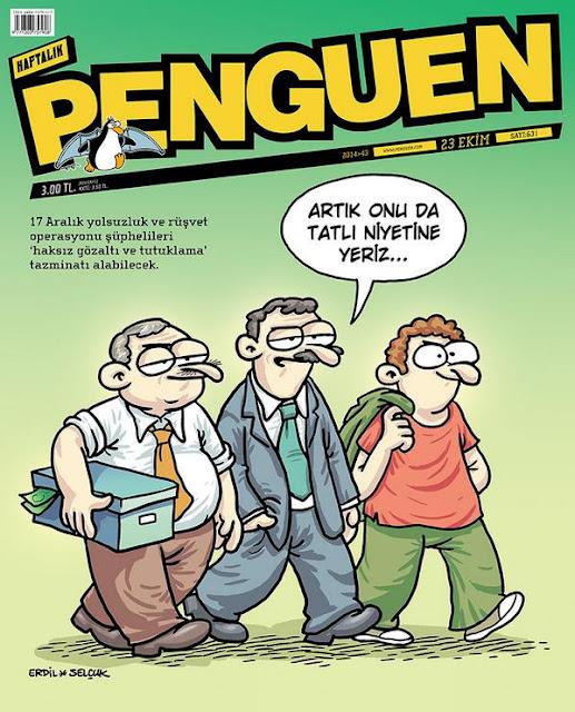 Penguen 17 Aralık karikatürü