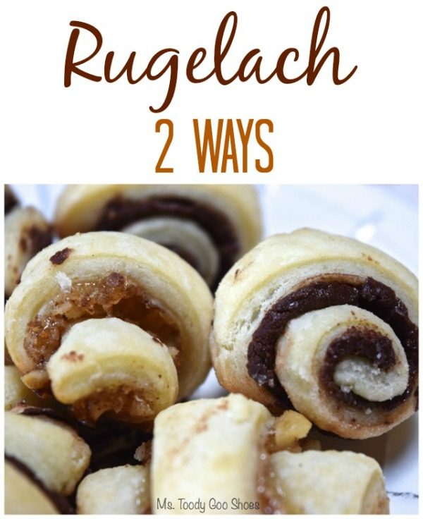 Rugelach Two Ways: Chocolate and Fig Walnut  - one of my Top Five Pins of 2015! |