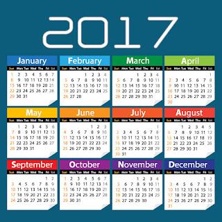 2017カレンダー無料テンプレート54
