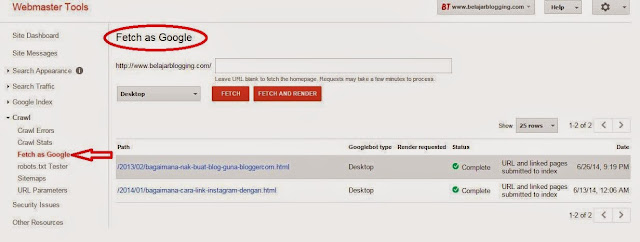 Google%2BWebmaster%2BTools - Tips Mempercepatkan Blog atau Laman Web Diindeks Oleh Google