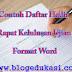 Contoh Daftar Hadir Rapat Kelulusan Ujian Format Word