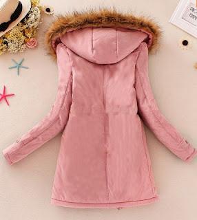 Chaqueta larga para mujer con capucha, bolsillos grandes frontales y cintura ajustable