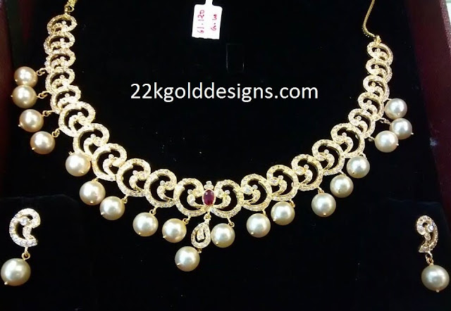 CZS South Sea Pearls Necklace