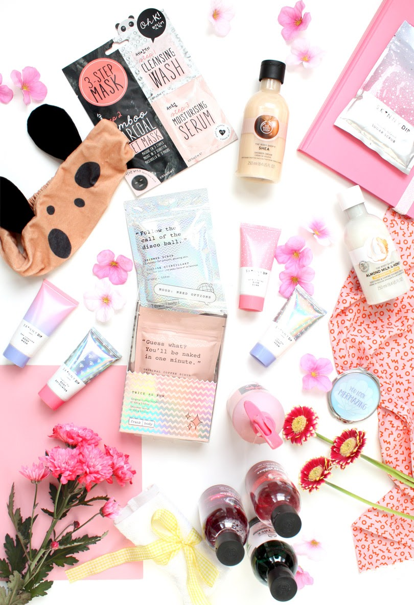 beauty body skincare flatlay