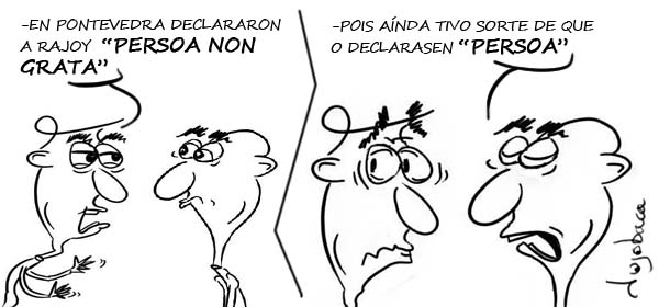"""Rajoy """"persoa non grata"""""""