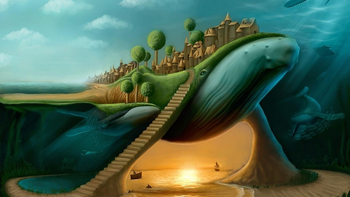 02-Whale-City-Quentin-Fantasy-Digital-Illustrations-with-a-bit-of-Surrealism-www-designstack-co