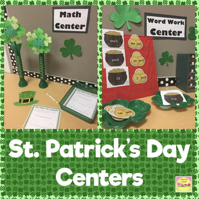 "First Grade St. Patricks Day Centers. March is here and it s time to get  those centers ready for the new month. Are you feeling like ""Oh my gosh e9776b1fb"