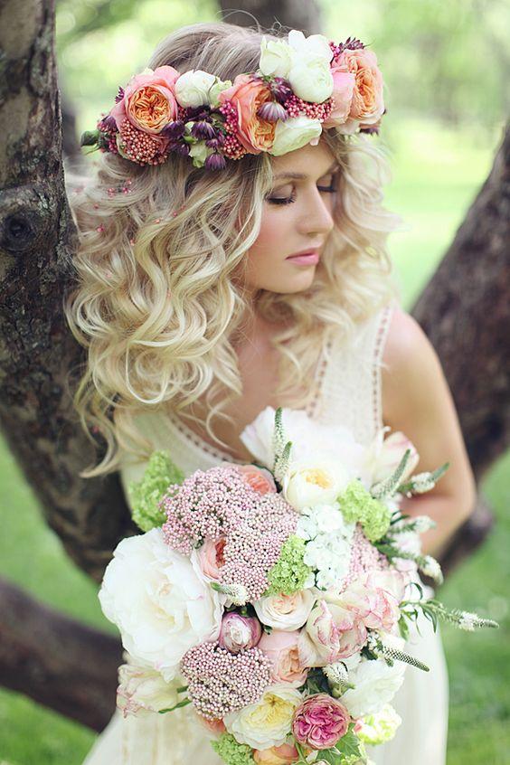 La Moda En Tu Cabello Lindas Coronas De Flores Para