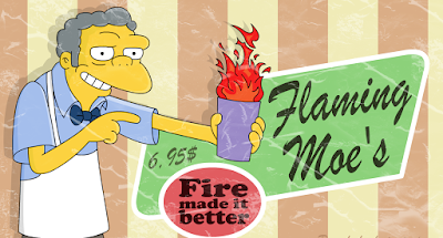 flaming Moe, flameado de moe, Borrás de Beseit
