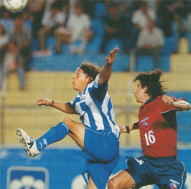 Honduras y Chile en partido amistoso, 11 de junio de 2003