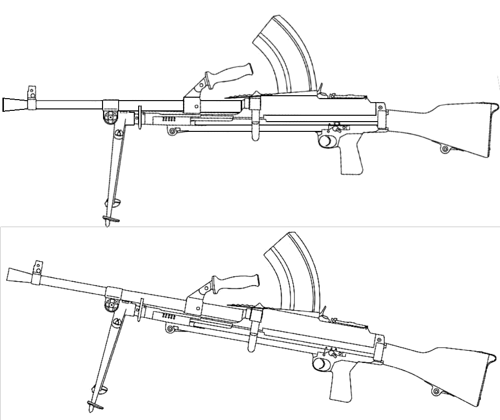Bren Light Machine Gun Blueprints