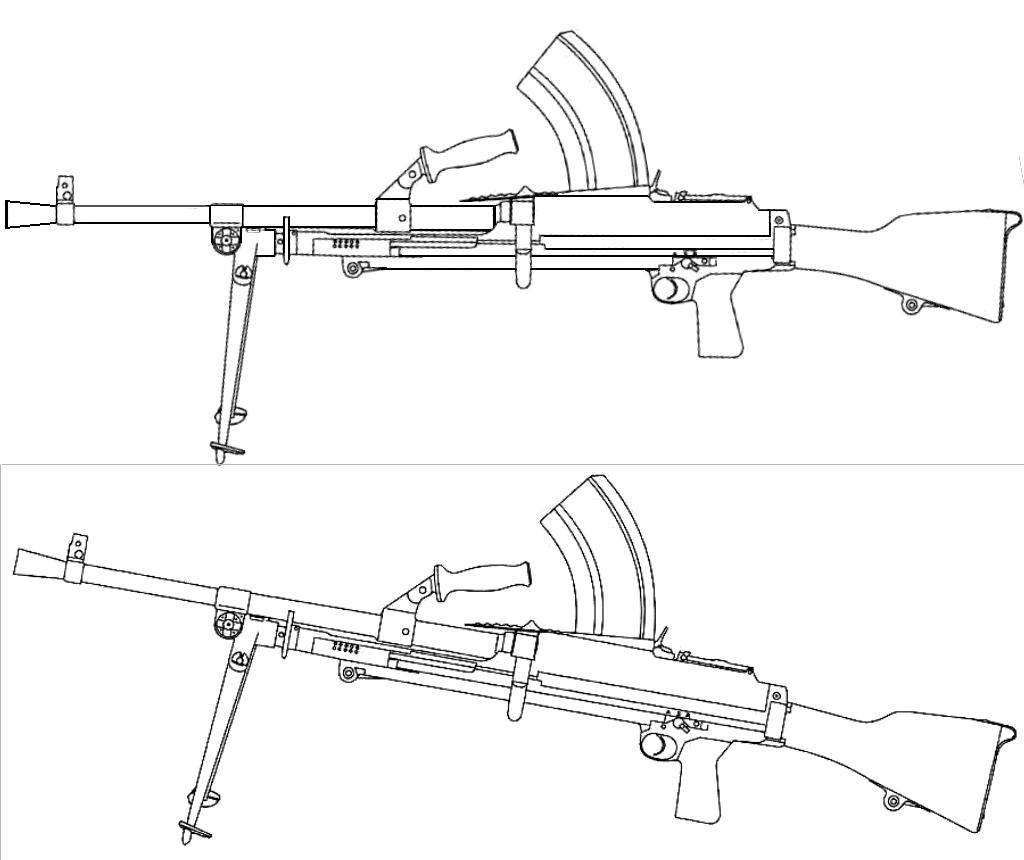 Bren Light Machine Gun Blueprints